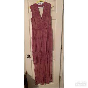 She + Sky mauve long dress